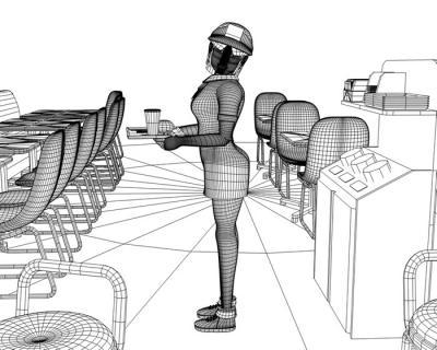 3Dキャラワイヤーフレーム120401