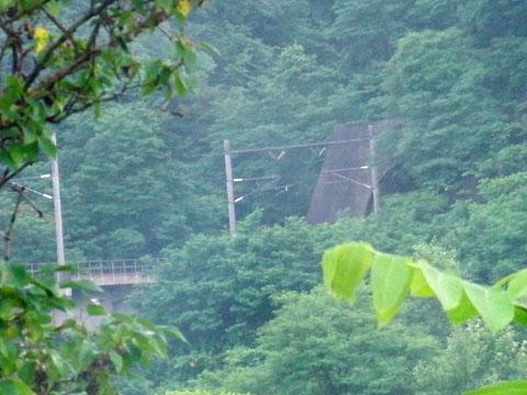 青函トンネルの出口