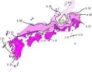 さくらの開花予想の等期日線図=気象庁提供