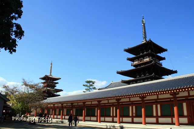 薬師寺 国宝東塔と西塔