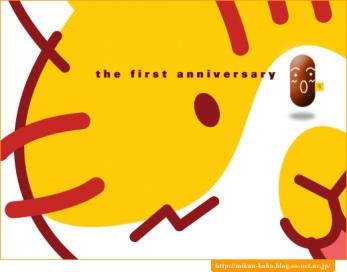 コピー ~ mitsuさんより 1周年のお祝いカード