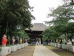 参道のタヌキと山門1694年建立