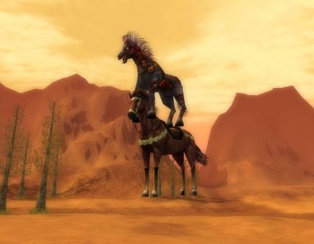 2階建ての馬