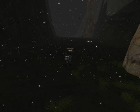 真っ暗でmobが見えない。。。