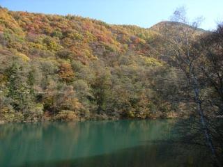 扉温泉のダムの近く