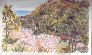 桜と海(稲村ガ崎ー極楽寺間)