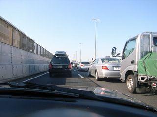 両国前から渋滞