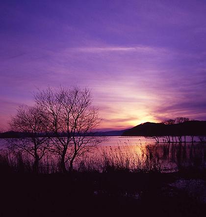 湖北の夕景
