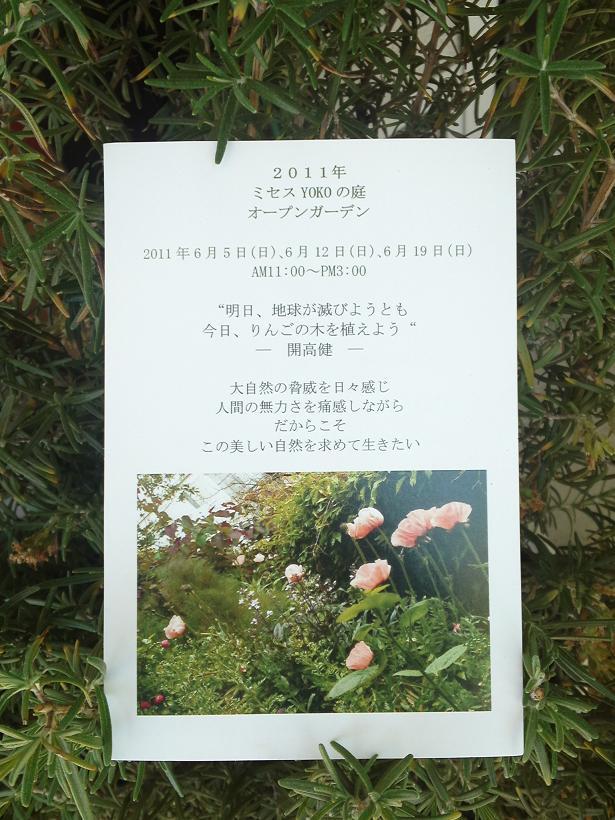 ミセスYOKOの庭