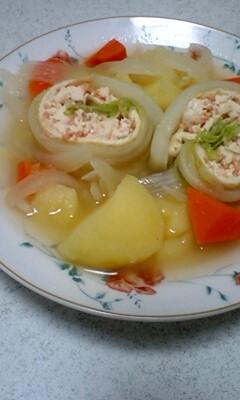 お豆腐deロール白菜のポトフ