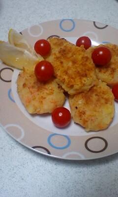 ポテト鮭の小判焼き