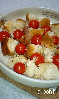 トマトのバジル焼き