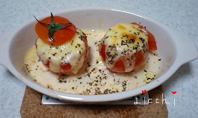 トマトの豆乳焼き