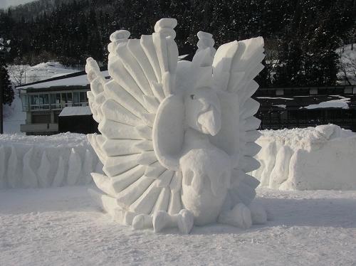 2011年中学閉校記念雪像 (37)