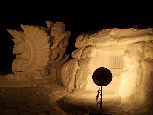 2011年中学閉校記念雪像 (65)