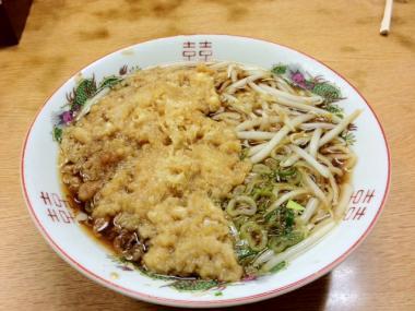 城崎温泉 美味処ますや 天ぷら中華そば
