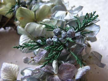 紫陽花リース・4