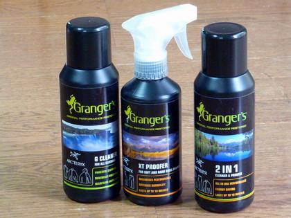 Granger'sのクリーナー&プルーファー(撥水剤)。