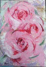 薄紅の薔薇