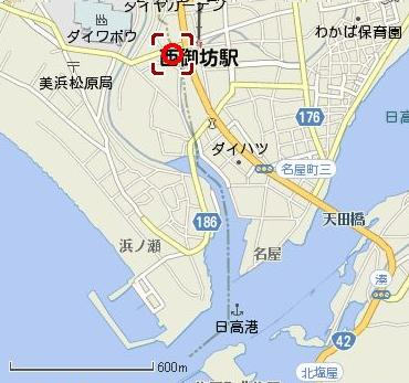 日高川河口周辺地図