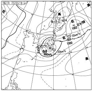 天気図 11072021