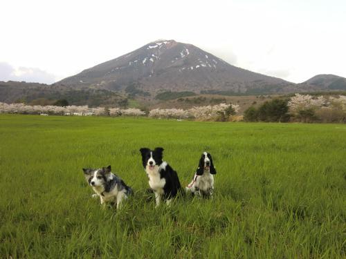磐梯山と2