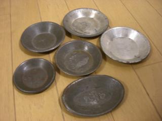 ブリキの小皿