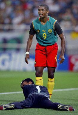アフリカ最優秀選手のサミュエル・エトー