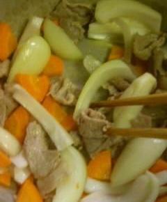 白菜クリームシチュー丼6