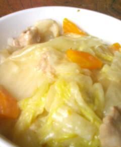 白菜クリームシチュー丼13