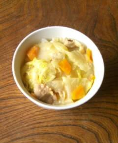 白菜クリームシチュー丼12