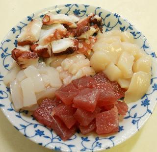 洋風刺身麺1