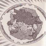 洋風刺身麺図
