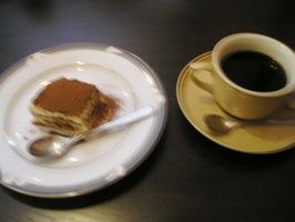 ティラミスとコーヒー