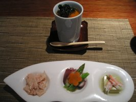 和定食や粋寿司ランチの季節の小鉢、茶碗蒸し
