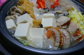 牡蠣&ホタテ鍋