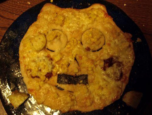 21U太とお父さんの熊ピザ
