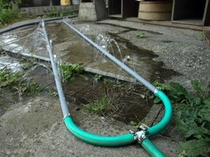 7屋根に水テスト