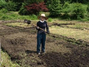 3土をならすなっちゃん2011田植え
