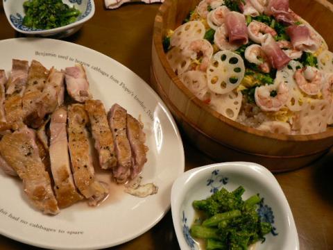 2008年3月3日雛祭り夕食
