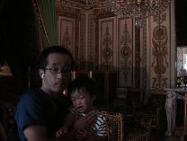 フォンテーヌブロー城のナポレオンの部屋にて