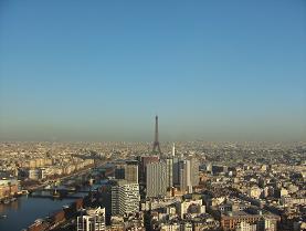 空から見たエッフェル塔