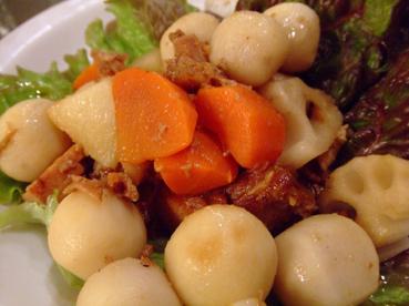 豚角煮と根菜アップ