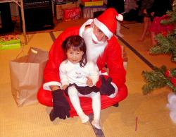 Airin with Santa