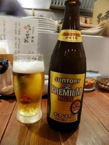 夜 ビール .