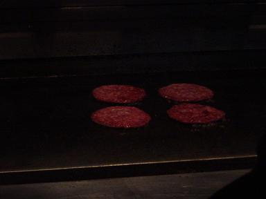 ハンバーガー作り途中2