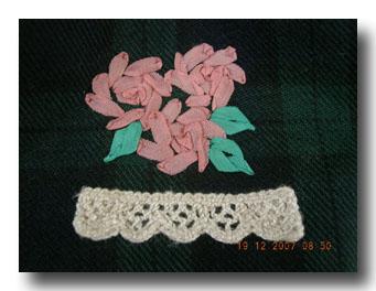 刺繍はやっぱり薔薇