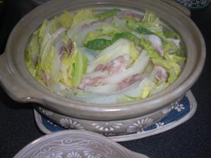 白菜と豚肉の蒸煮です