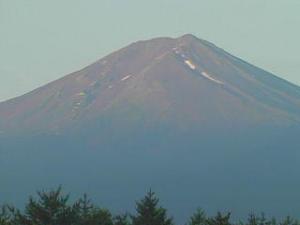 昨年の富士山です