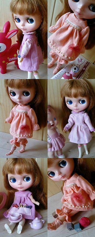 ピンクの服と寝巻き